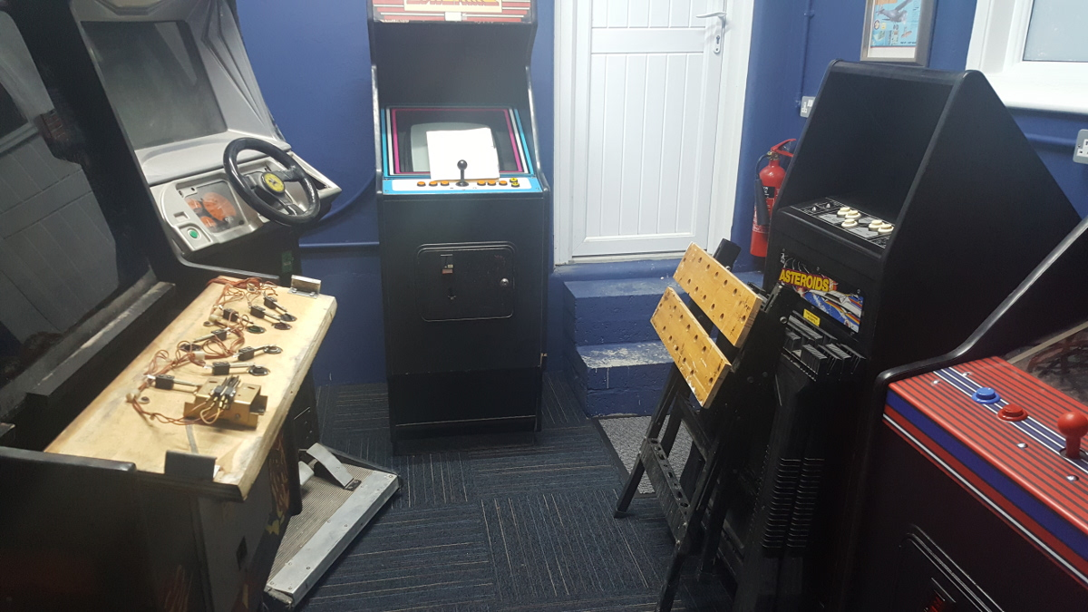 arcade cabs in game room