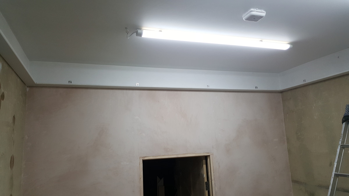 skirting on plastered wall