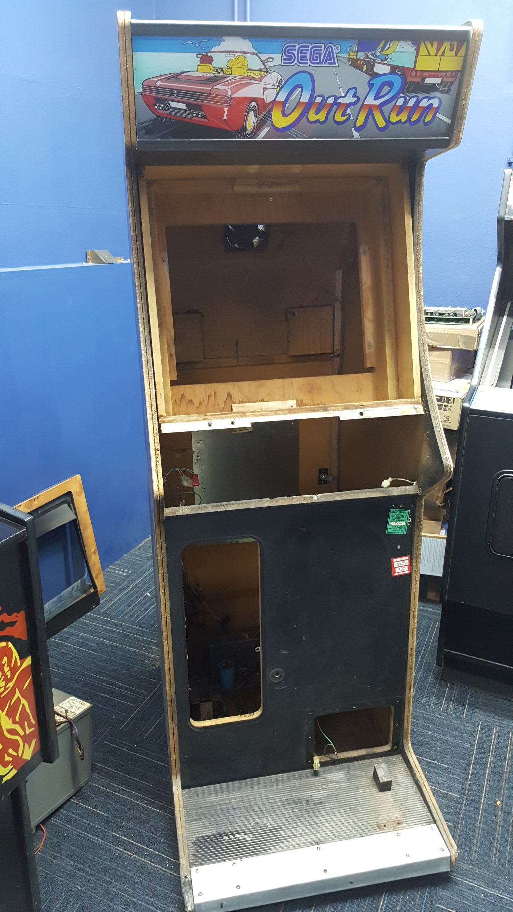 cabinet stripped bare