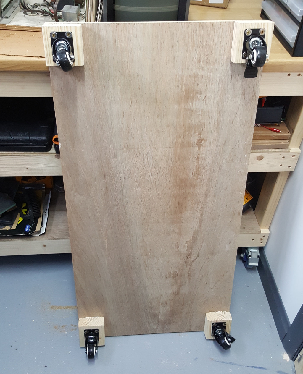 I made a transport dolly trolley