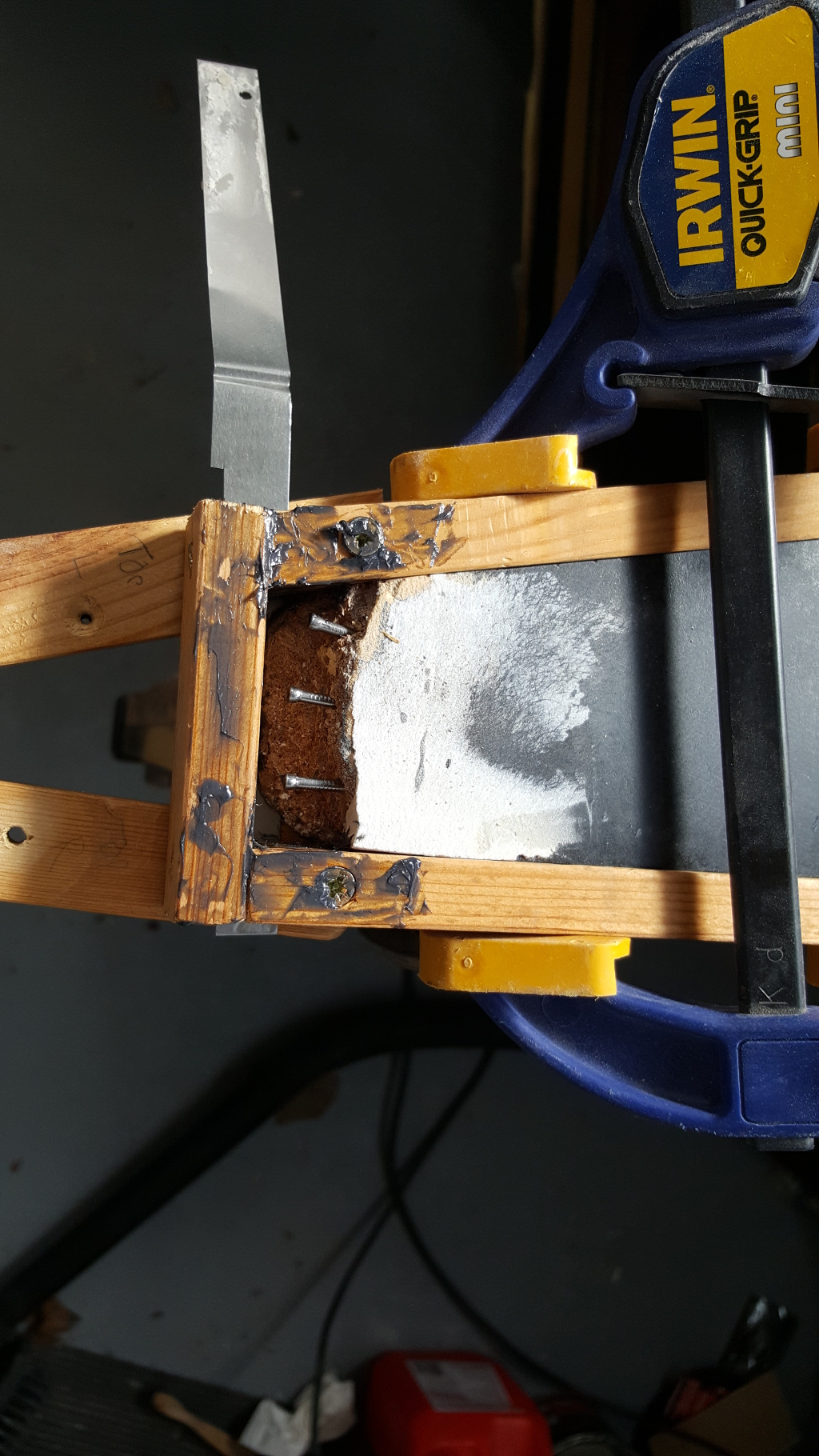 greased up mold frame
