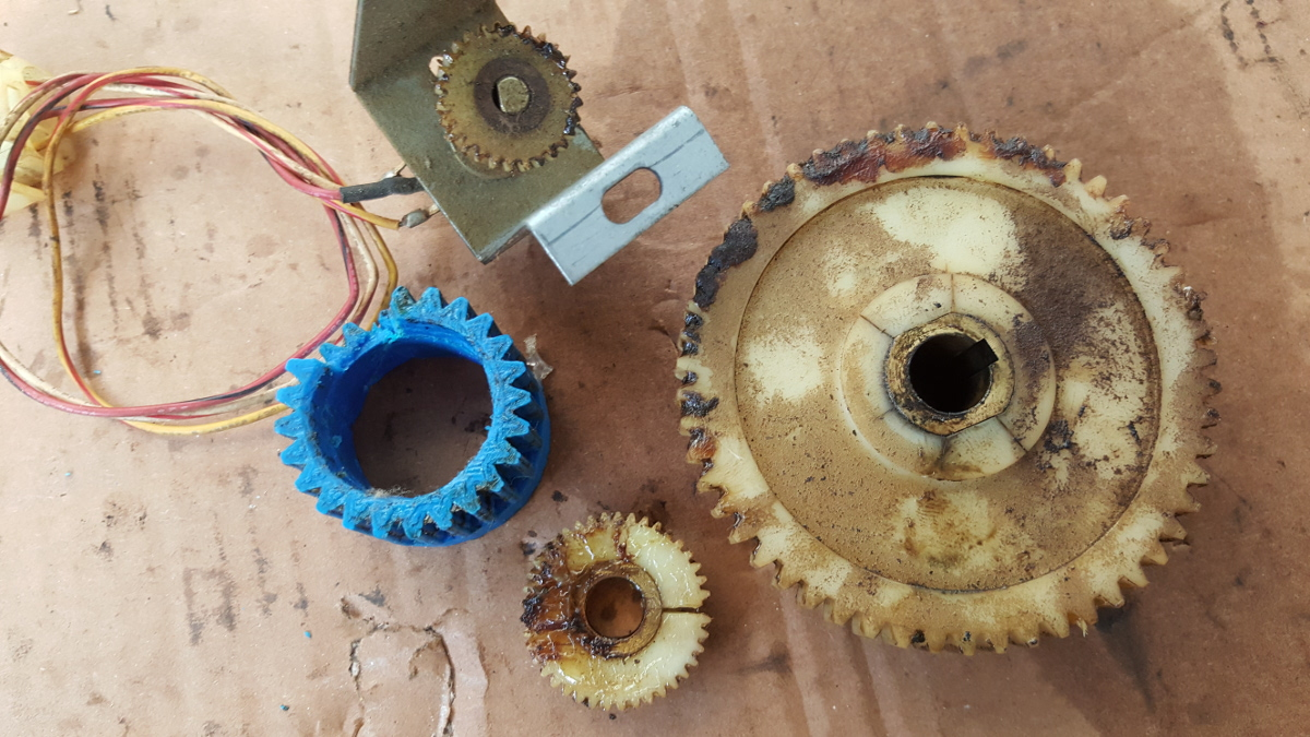 all the old broken gears