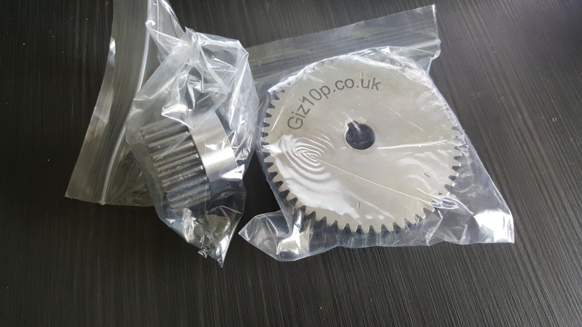 new giz10p A and B gears
